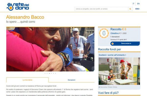 Alessandro corre la maratona agonistica di Roma